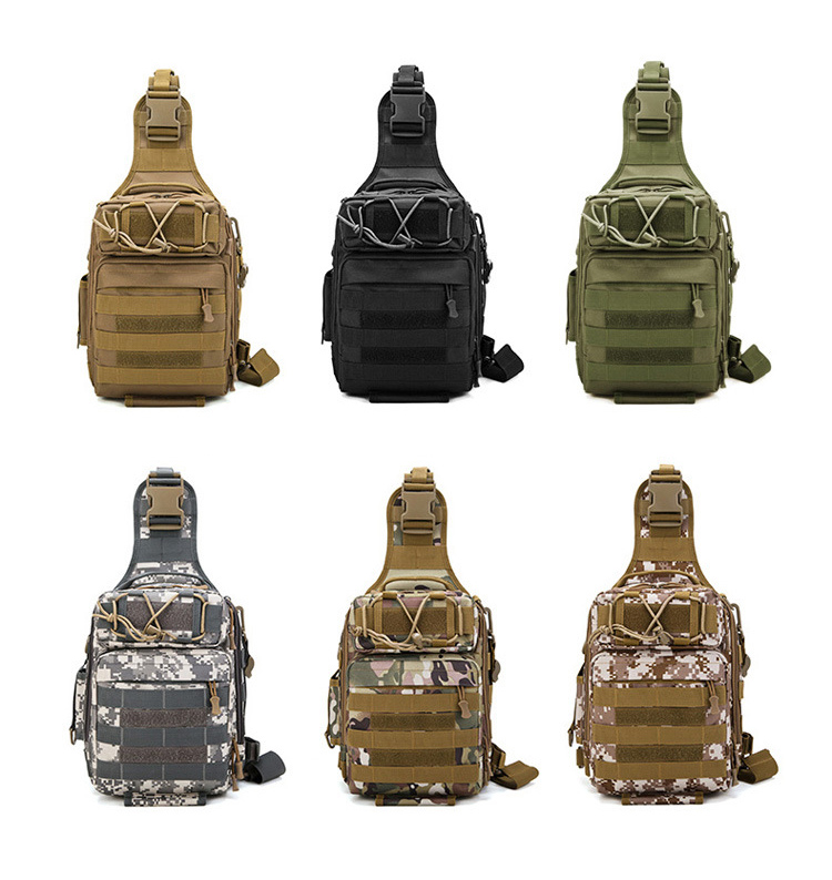 Tactical Chest Bag Camouflage Hunting Shoulder Bag Waterproof Riding Pockets Military Nylon Camping Packpack Emergency Kits