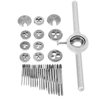 Professional 31Pcs/Set HSS Mini TScrew Tap & Threading Die & Wrench M1 M2.5