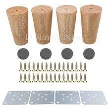 4 قطع الخشب الطبيعي موثوق 100x58x38 ملليمتر أثاث خشبي الساق مخروط على شكل أقدام خشبية ل خزائن لينة الجدول