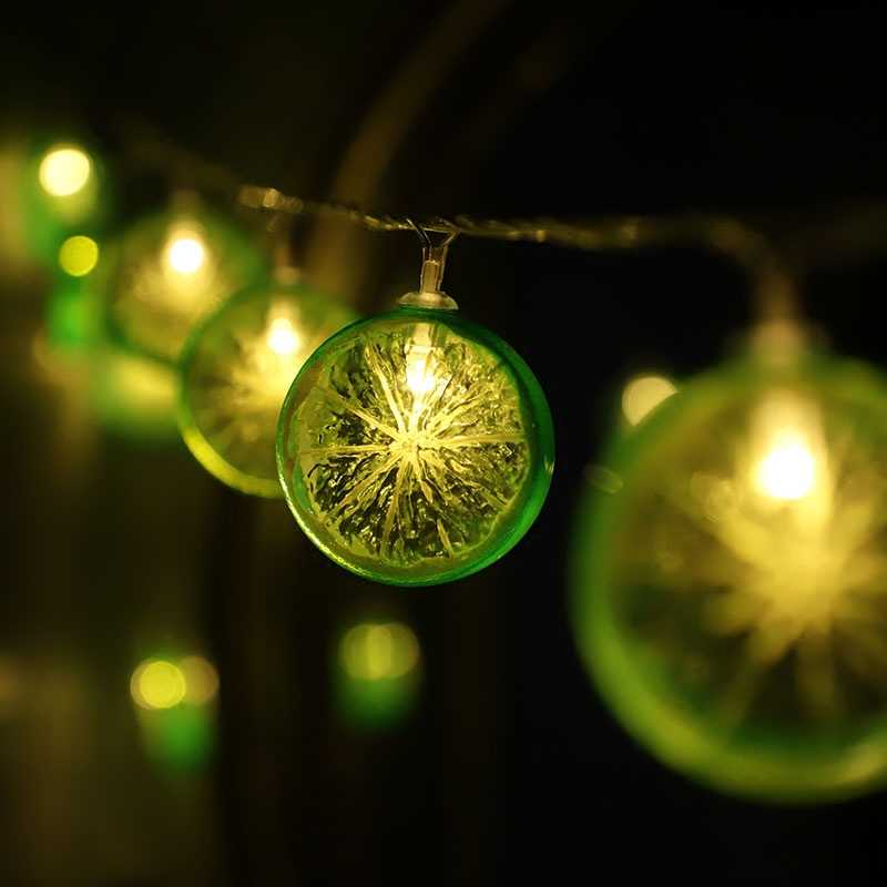 10 Led Fairy Fruit Orange Lime Battery Operated String Lights 1.5m LED Decoration For Christmas Garland On The Window New Year