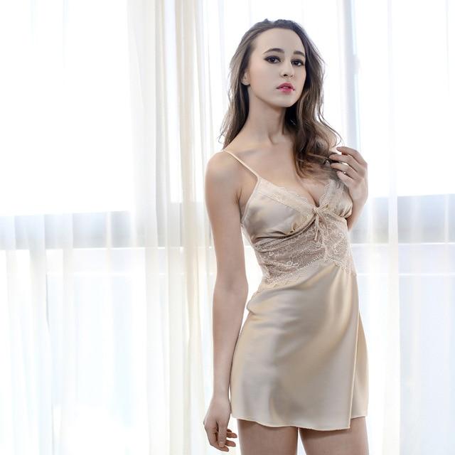 ... fe827 fe744 Adogirl Sexy Women Nightgowns Sleepwear Chemise Dress Women  Nightdress Sexy Lingerie Babydoll Underwear Night ... 8133b9b1a0