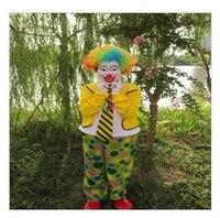 Envío gratis hermosa ropa para Halloween divertido adulto del traje del payaso trucos de magia apoyos mágicos