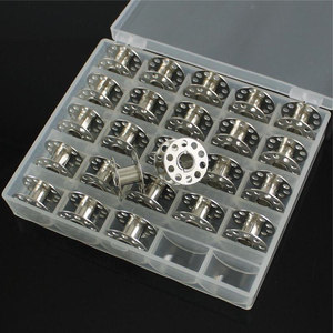 Image 5 - 25Pc Sewing Machine Bobbins Spools Empty Bobbins Spools Sewing Machine Plastic Storage Box For Home Sewing Accessories Tools
