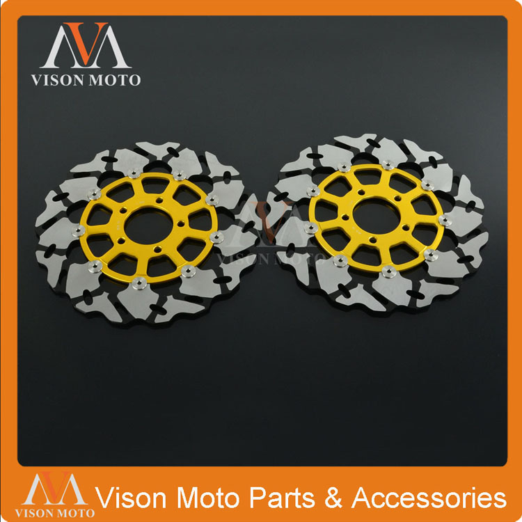 2PCS Front Floating Brake Disc Rotor For Suzuki GSXR1300 Hayabusa 02-07 GSX1400 01-08 TL1000 TL1000R 98-03 TL1000S 97-01 front brake disc rotor bracket for rm 125 rm250 96 97 98 99 00 01 02 03 04 05 06 07 08 09 10 11 12 drz s e 400 oversize 270mm