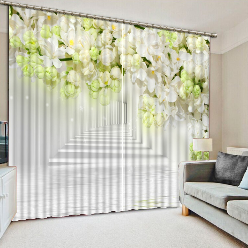 Blackout Curtains For Living Room Hotel European Simple: Modern Simple And Stylish Stereoscopic 3d Curtains For Bed