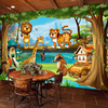 3D Wall Murals Beautiful Cartoon Forest Animal World Photo Wallpaper For Children Room Papier Peint Enfant Eco-Friendly Frescoes