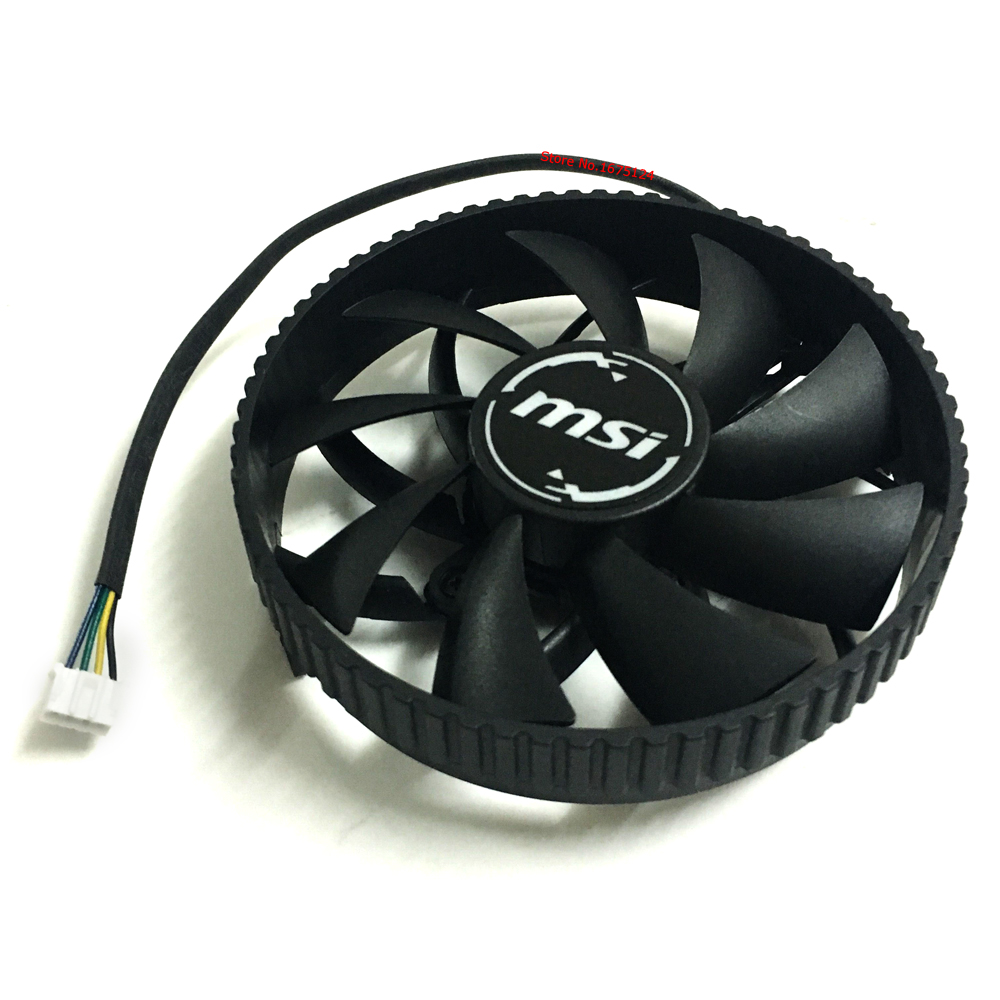 original and new MSI VIDEO Graphics Card Cooling fan Computer GPU VGA Cooler Fan PLA09215B12H 87mm DC 12V 0.55A 4Wire with frame john frieda средство для создания объема длительного действия luxurious volume 7 day 100 мл