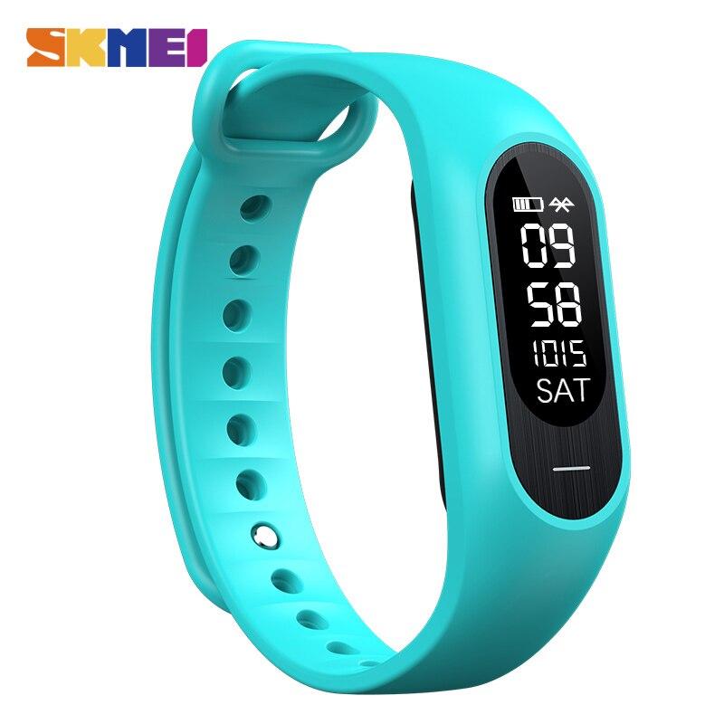 SKMEI Men Blood Pressure Heart Rate Smart Wristband Women Sleep Pedometer Calorie Smart Watch Bluetooth Message
