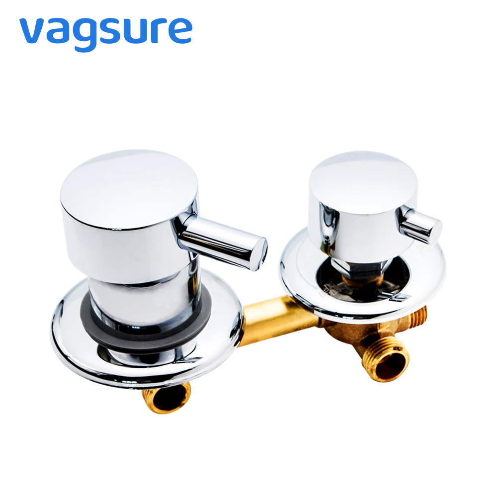 2/3/4/5 Water Output Shower Diverter Mixer Screw Thread Shower Room Tap Faucet 10cm/12.5cm Hole Sizes Installation For Shower