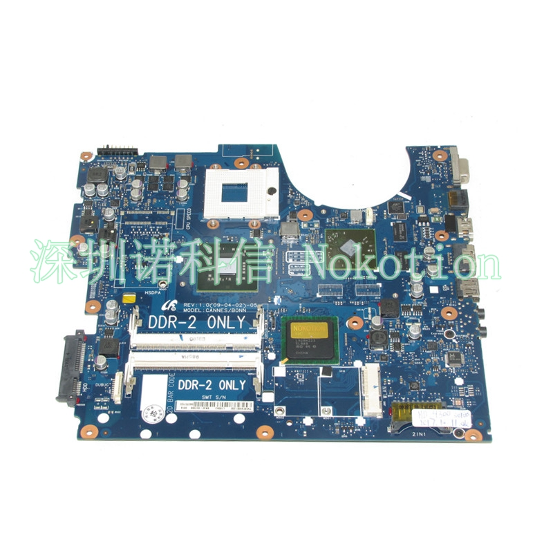 NOKOTION BA92-05738A BA92-05738B BA41-01061A Laptop motherboard For samsung NP-R522 R522 PM45 DDR2 HD4300 graphics free cpu