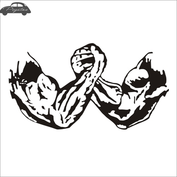 Gym Sticker Fitness Decal Body-building Arm Wrestling Posters Vinyl Wall Decals Pegatina Quadro Parede Decor Mural Gym Sticker 180sx led ヘッド ライト