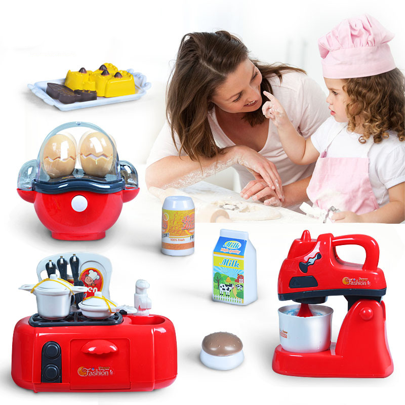 Electric Tableware Children Kitchen Toys Plastic Pretend Play Blender /Toaster Cooking Kitchen Toys For Girls BM006
