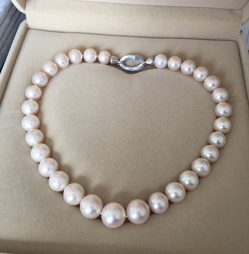 Wholesale free shipping >>charm Jew. Gorgeous Natural white 13-14mm kasumi Pearl NecklaceWholesale free shipping >>charm Jew. Gorgeous Natural white 13-14mm kasumi Pearl Necklace