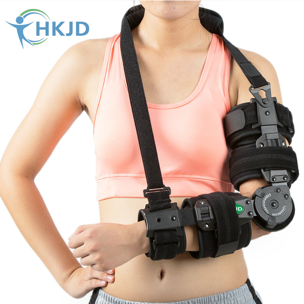 Health Care Medical Arm Brace Angle Adjustable Hinge Elbow Support Brace For Forearm Fracture factory direct sale hinge elbow brace arm support medical orthopedic orthotics supports