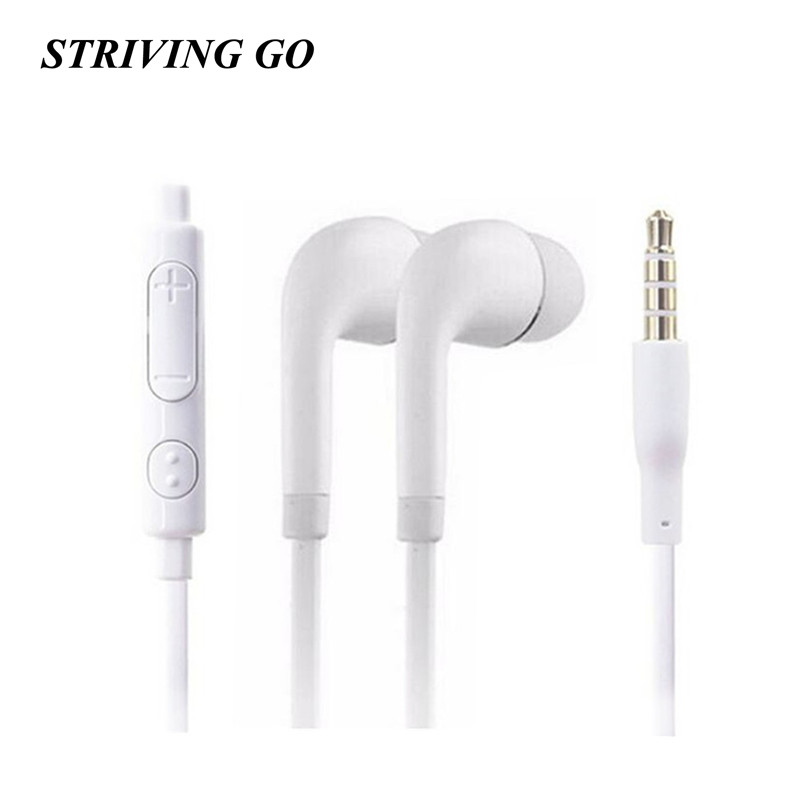3.5mm J5 In-Ear Earphones Stereo Headset Handsfree Music Sport Earbuds With Mic For IPhone Xiaomi 5 6 Huawei Samsung MP3 PK S8