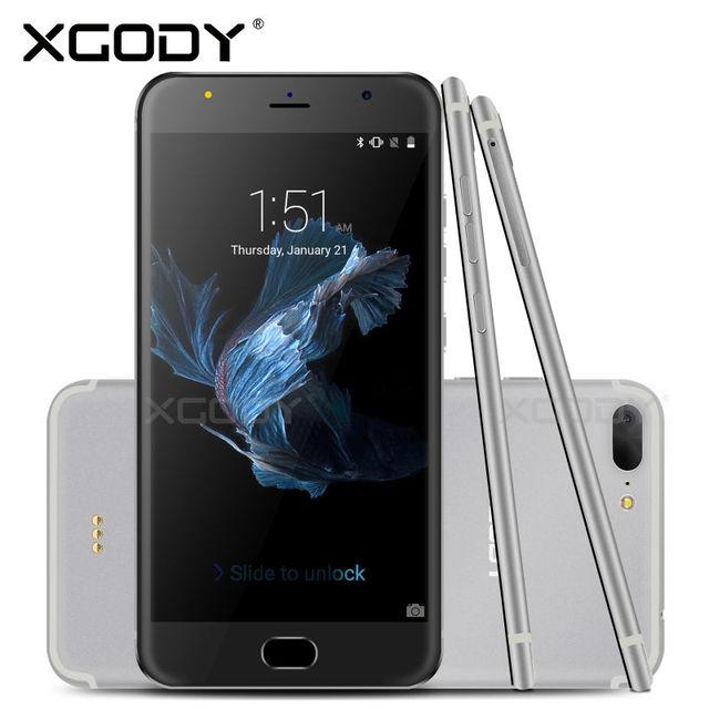 Xgody 5.5 ''smartphone quad core 8 gb con micro usb android 5.1 teléfono D11 Teléfono Móvil Con Cámara de 8MP ROM 1 GB RAM 3G del teléfono Celular