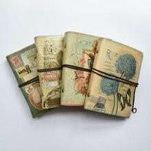 Cuaderno Retro en espiral MaoTu, cuaderno Vintage de viaje, diario antiguo, carpeta de anillas, cuaderno de regalo, papel Kraft en blanco