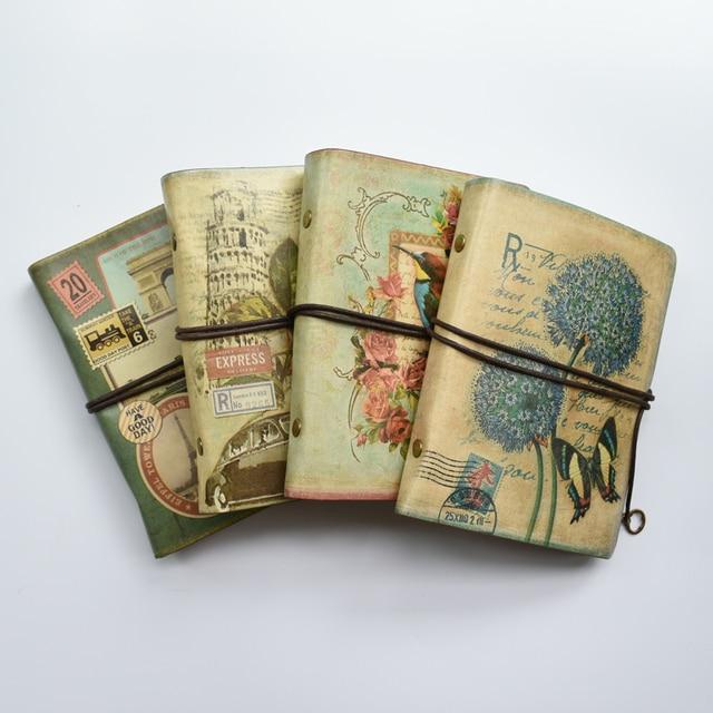 MaoTu Retro Spiral Notebook Vintage Travel Journal Antique Diary Book Ring Binder Gift Notebook Blank Kraft Paper