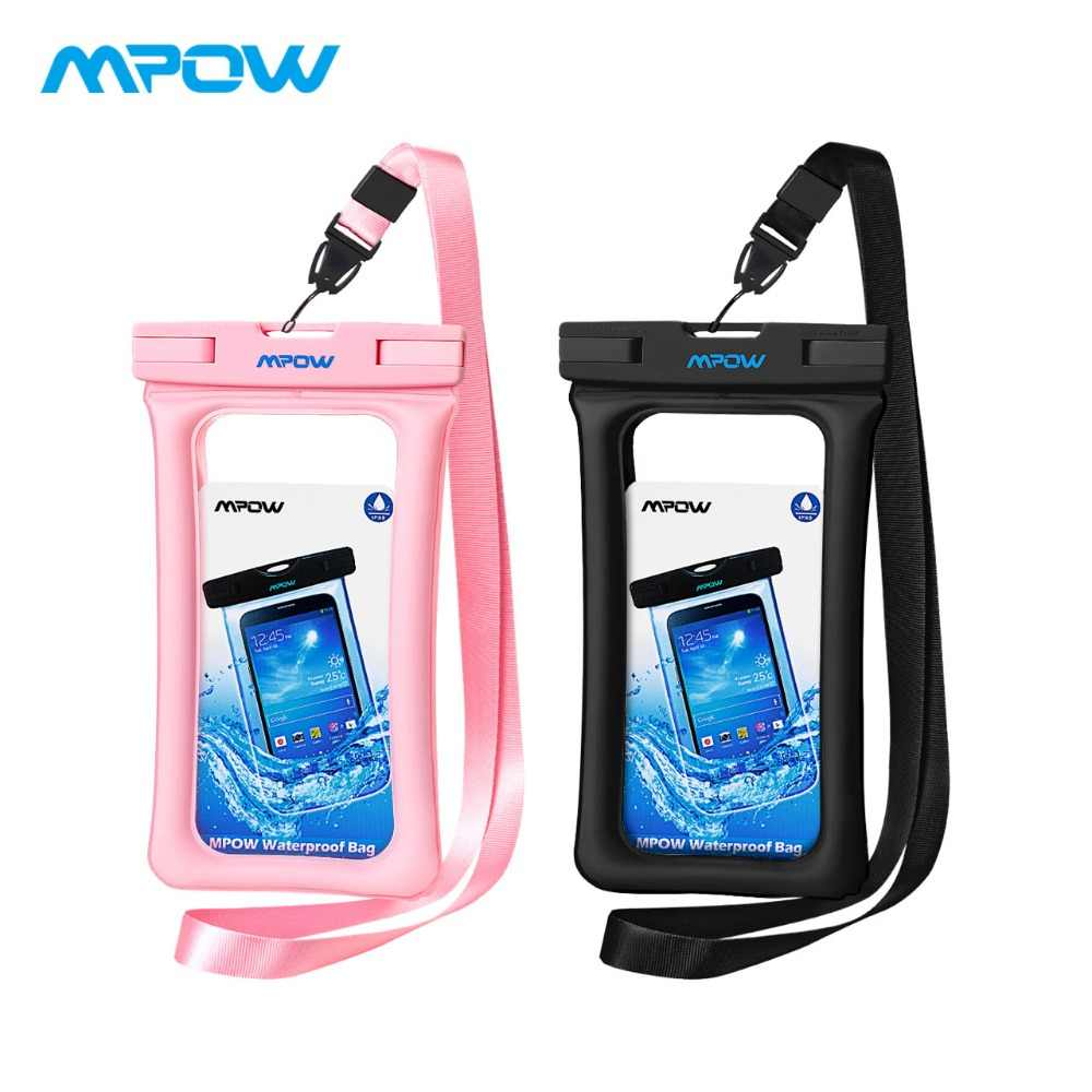 newest 242e4 5d40c Mpow Waterproof Phone Pouch IPX8 Universal Phone Case Pouch Floatable Dry  Bag For iPhone X/8/8plus/7/7plus/6s/6/6s Plus Samsung
