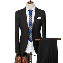 2017 Spring Autumn the new high quality single breasted slim fit suits Men's business suits dress (jacket+pant)