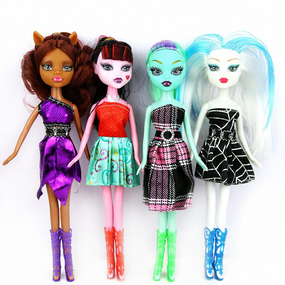 22cm High Quality Dolls Toys Fashion Joints Anime Model Toy for Girls Birthday Xmas Gift Toys For Children Cartoon Doll 4 Types