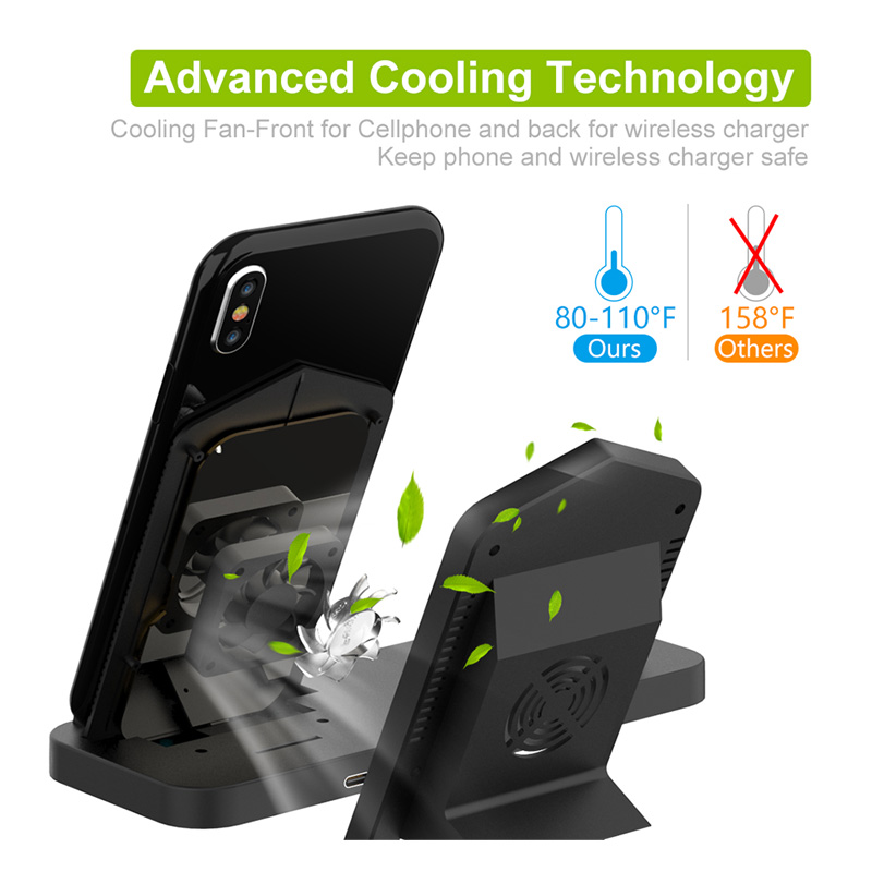 Image 3 - Fast 3 in 1 Wireless Charger for iPhone 3in1 Wireless Charging Dock Station Qi 10W for iPhone X XS Max XR 8 AirPods Apple Watch-in Mobile Phone Chargers from Cellphones & Telecommunications