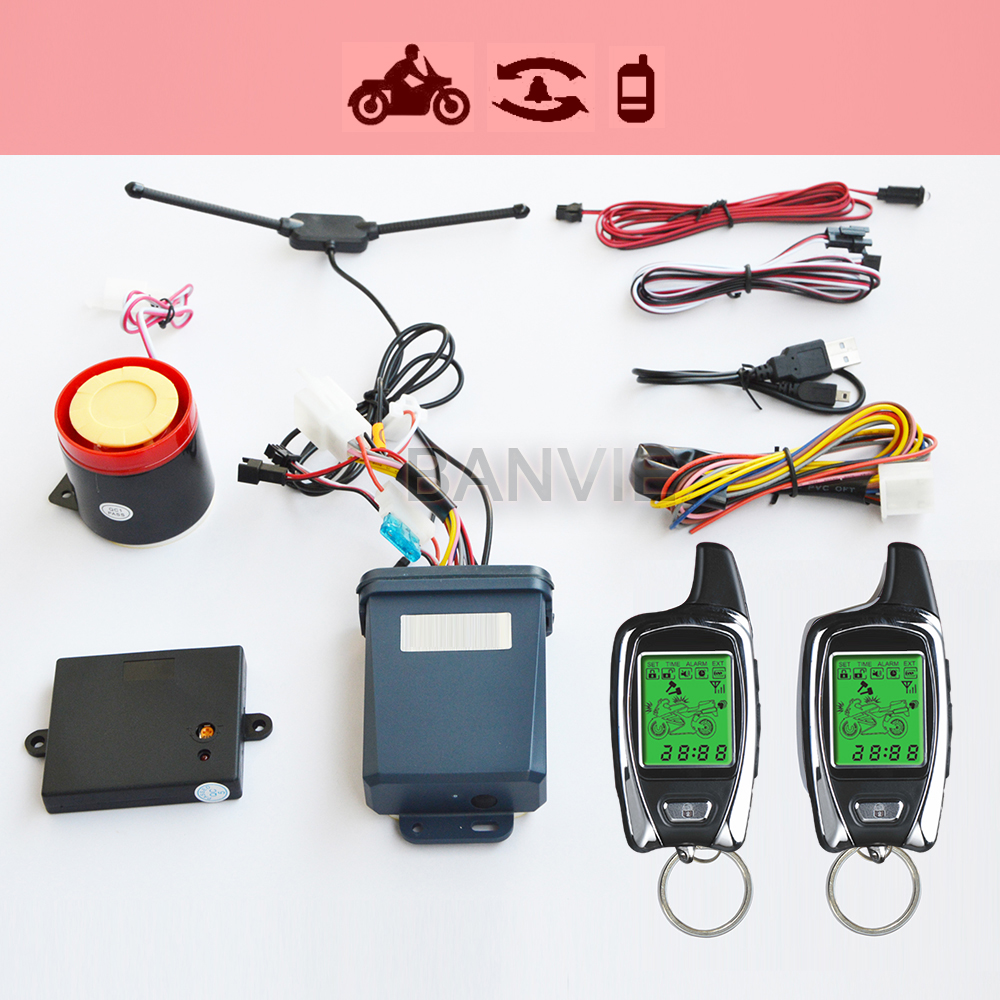 ФОТО High Quality Original SPY 5000m Two Way Anti - theft Motorcycle Alarm With 2 LCD Transmitters Remote Engine Start