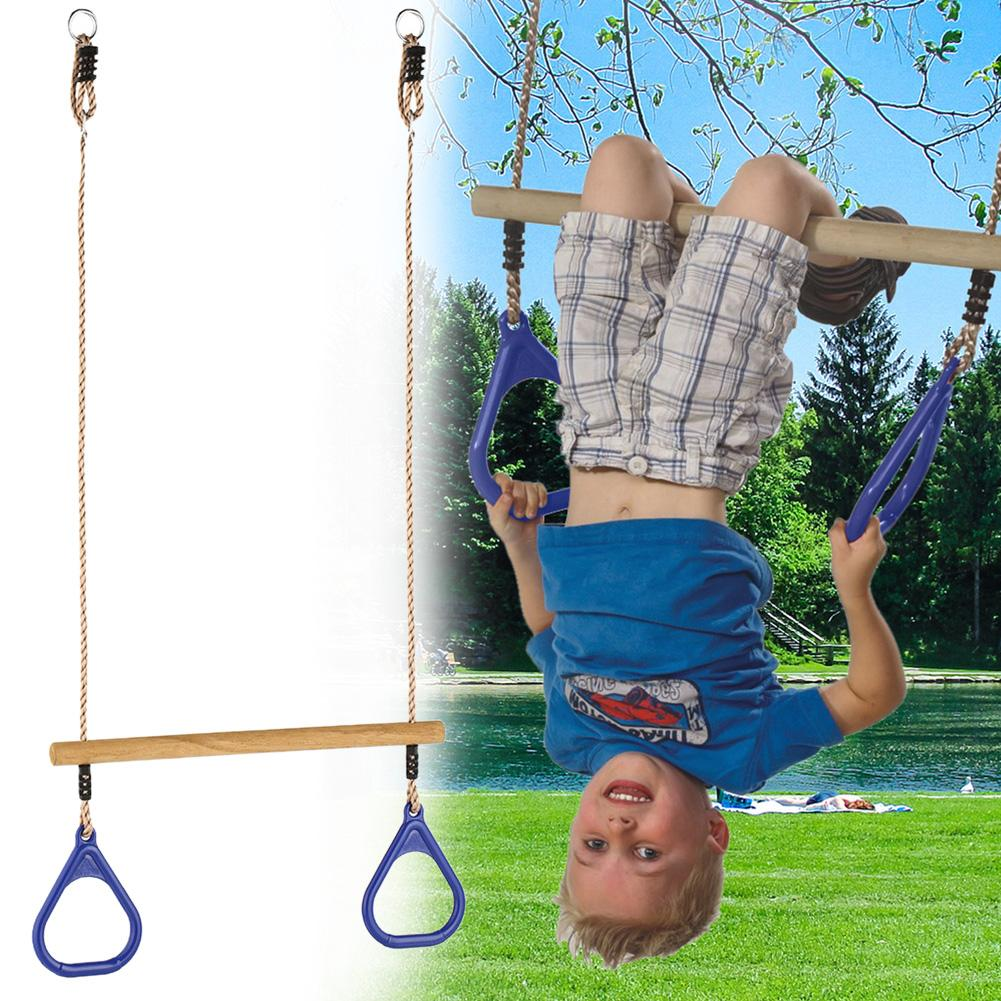 High Quality Children Playground Flying Gym Rings Swing Flying Pull Up Ring Sports Outdoor Indoor Gym Swing For Kids Boys Girls
