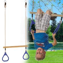 High Quality Children Playground Flying Gym Rings Swing Pull Up Ring Sports Outdoor Indoor for Kids Boys Girls