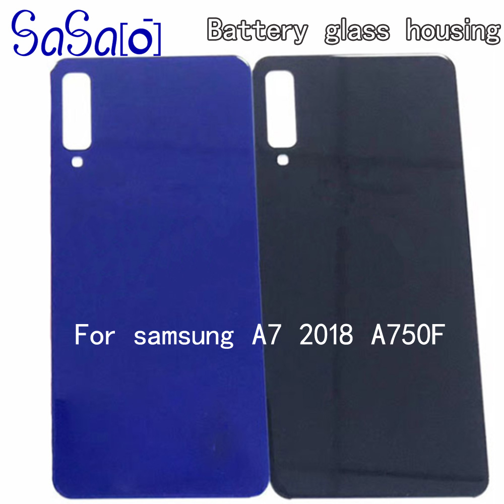 Back Glass Replacement parts For Samsung Galaxy A750 A750F A7 2018 Battery Cover Rear Door Housing