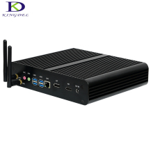 High speed Intel Core i7 7500U Max 3.5GHz mini PC 4K HDMI DP 16G RAM 256G SSD 1T HDD Fanless small computer NC360