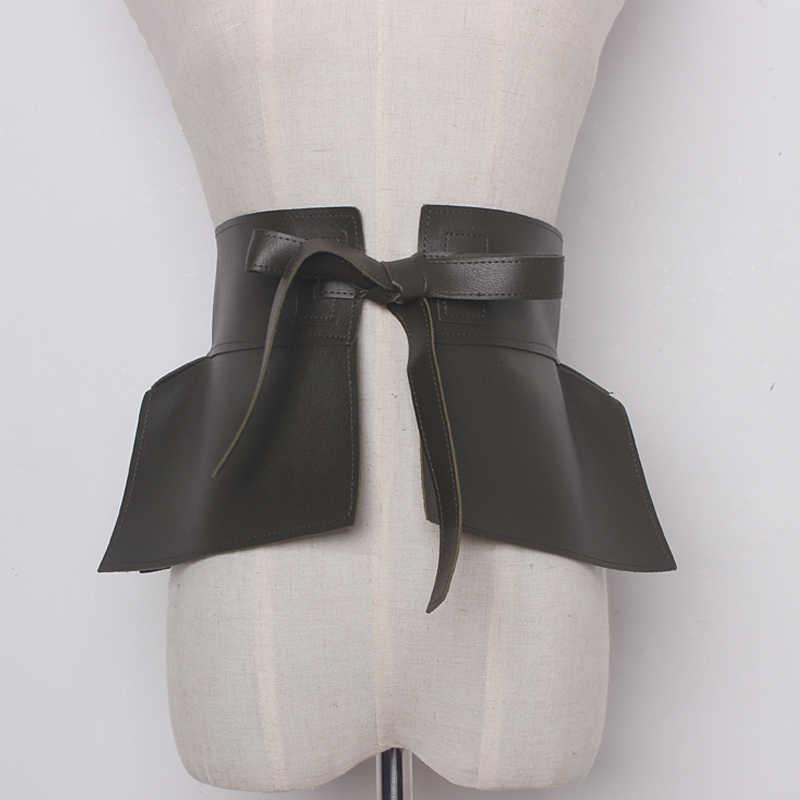 Новые Брендовые женские широкие ремни из искусственной кожи, женские широкие пояса со шнуровкой, черные женские юбки, модные повседневные аксессуары
