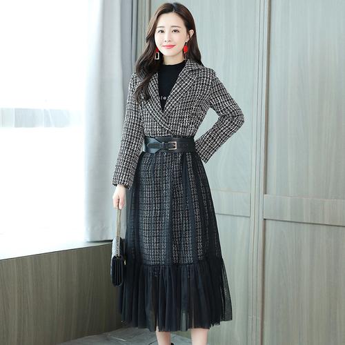... Big Size Plaid Stitching Women s Windbreaker Raincoat Clothes Casaco  Feminino Long Wind Coat Trench Female Cardigan ... a1f150c4aa52