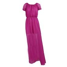 New Women Clothing Long Dress Strapless Bohemian Chiffon Women Maxi Dress Tube Dress Purple S