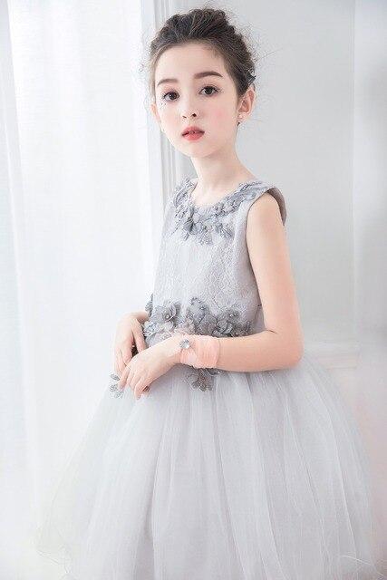 7932df1d1 Flores túnicas vestido para adolescentes elegante princesa vestido niña tul vestido  para fiesta de cumpleaños del