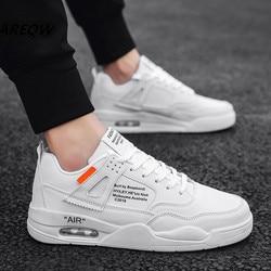 Versão Coreana de Sapatos Casuais Respirável dos homens com Cor Sólida Desgaste e Odor-resistente À Prova D' Água Esportes dos homens sapatos 2019