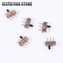 100pcs SS12D00G3 Slide Switch 2 Position SPDT 1P2T 3Pin PCB Panel Mini Vertical Toggle Switches for DIY Electronic Accessories