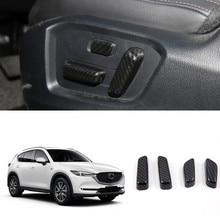Подходит для левой руки диск 1 комплект ABS автокресло Кнопка регулировки крышка декоративная накладка для Mazda CX-5 CX5 2nd gen. 2017 2018