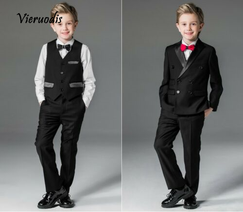 Flower Boys Black Wedding Suits For Children Formal Evening Prom Party Tuexdos in Boys 39 Attire from Weddings amp Events