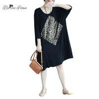 BelineRosa 2017 Women S Casual Dresses Big Sizes Women Dress European Style Loose Fashion Sequin Tunic