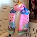2017 осень и зима мальчиков и девочек имитация кашемир мультфильм поросят кашемировый шарф шарф Корейской версии печати