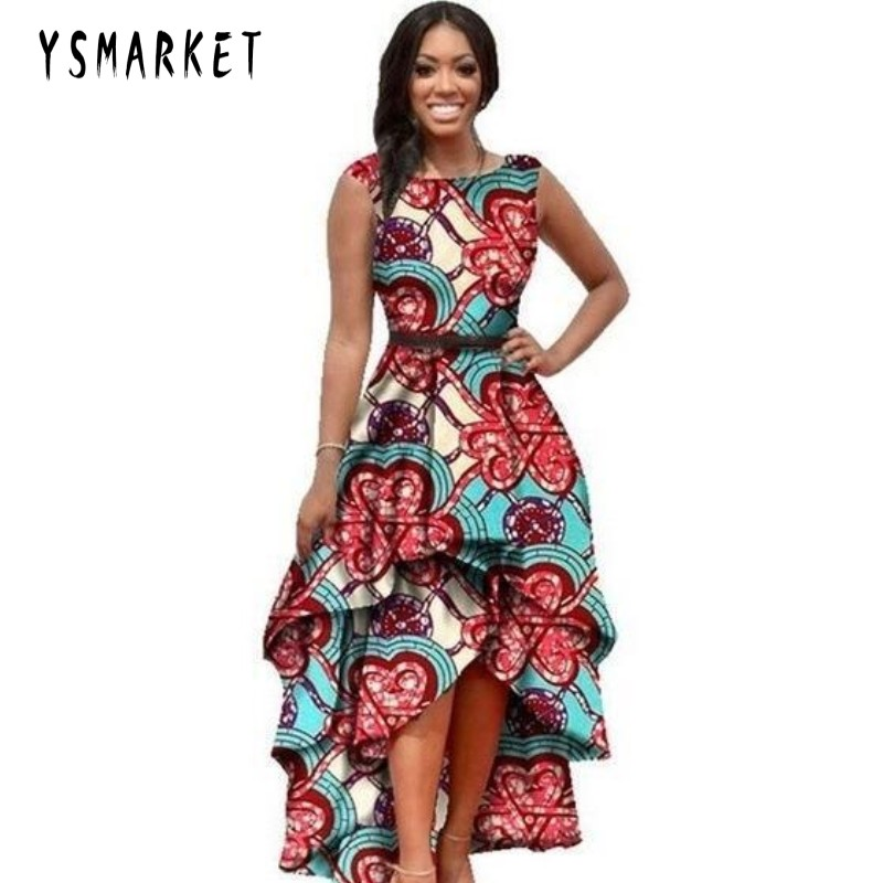 YSMARKET Hot 2018 print african clothes for women dresses big size sleeveless fashion european style summer long dress vintage