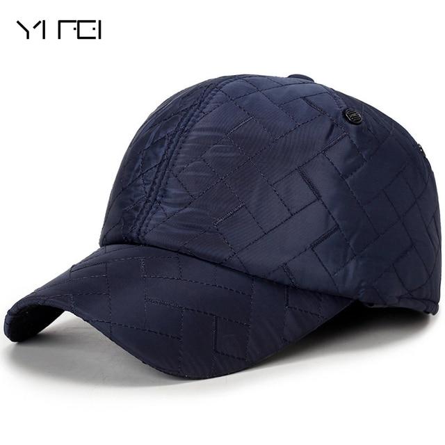 08656468 Fashion Diamond Peaked Cap Winter Outdoors Windproof Baseball Cap Keep Warm  Hats Bone Baseball Mens Winter Hats Ear Flaps