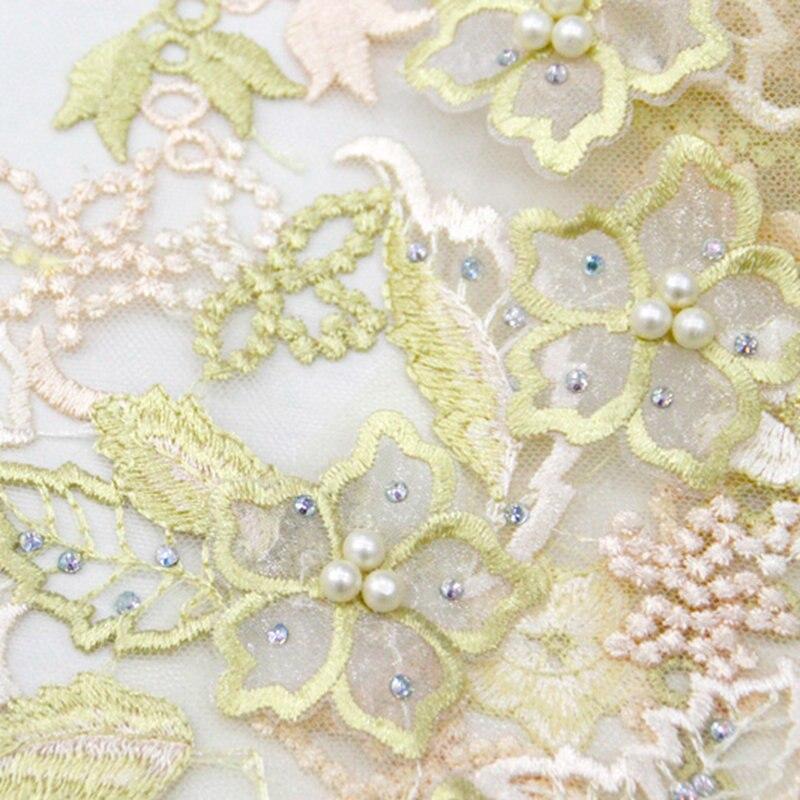 Telas de encaje nigeriano 2019 telas de encaje africano de alta calidad telas de encaje de flores 3D bordado de encaje francés con cuentas RG876-in encaje from Hogar y Mascotas    1
