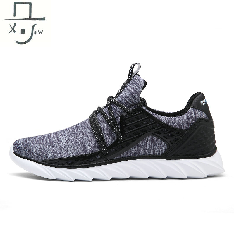 Plus Size 39-45 Elastic Mens Sneakers Light breathable Men Sports Shoes Comfortable Running Shoes For Men