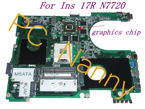 FOR Dell Inspiron 17R N7720 7720 Intel HM77 Motherboard 72P0M CN-072P0M DA0R09MB6H1 - Tested