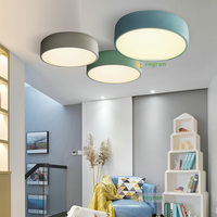 Nordic Minimalist Modern Dining Room Bedroom Creative Personality Led Pendant Lights Circular Lamps E27 Ceiling Lamp