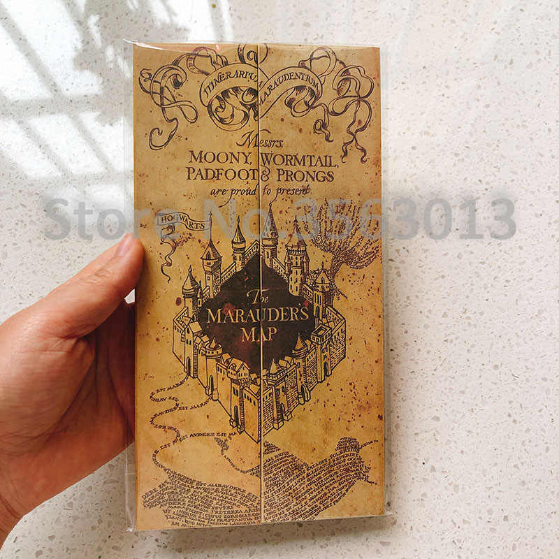 77x22cm Hogwarts The Marauder's Map The Wizarding World Harri Potter Version Classic Poster Vintage Retro Kraft paper