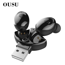 OUSU Bluetooth 5.0 Earphone TWS Earbuds Wireless Earphones Handsfree Earpiece For iphone xiaomi Original auriculares USB Charger