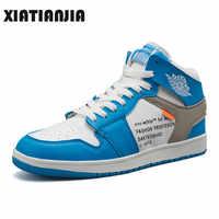 Mode décontracté Chaussures pour hommes baskets montantes hommes Chaussures De haute qualité antidérapant Chaussures De marche Zapatos De Hombre Chaussures homme